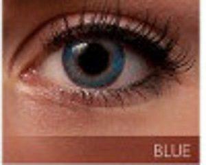 Färgade linser blå