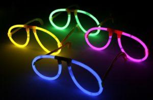 Självlysande Glasögon (Glowsticks) - 5-pack, En av varje färg