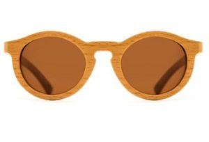 Solglasögon runda Oh my Woodness med styrka