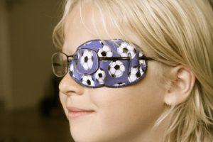 Ögonlapp i tyg för glasögon