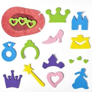 Skumklistermærker - prinsesse tema
