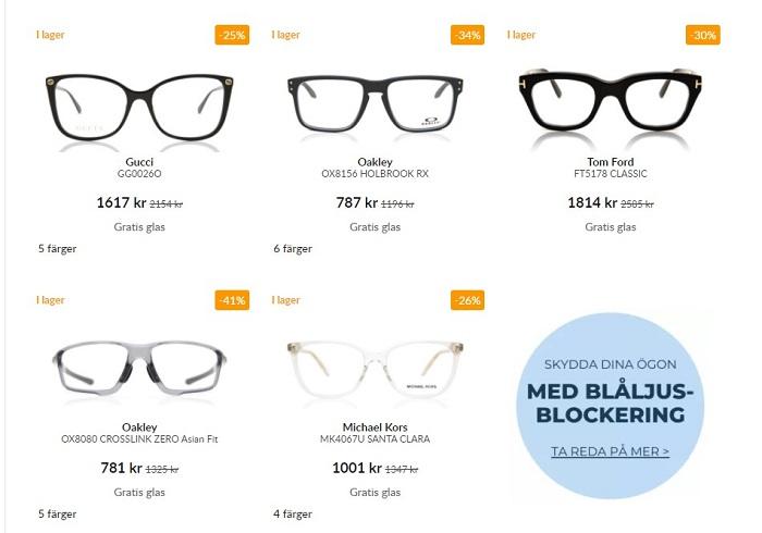 smartbuy glasögon dam herr utan styrka fönserglas eller klarglas