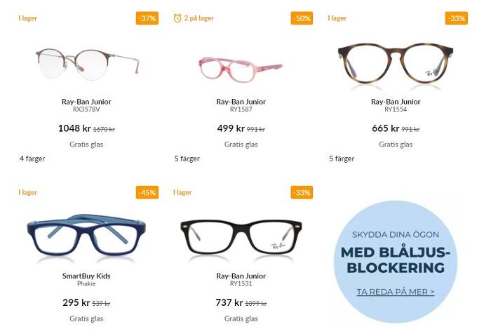 smartbuy glasögon utan styrka klarglas fönsterglas barn junior